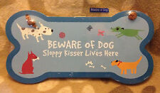 Beware of Dog Sloppy Kisser Lives Here - Wall sign/plaque