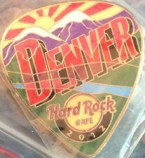 Hard Rock Cafe DENVER 2012 POSTCARD Series Guitar Pick PIN Post Card HRC #68127
