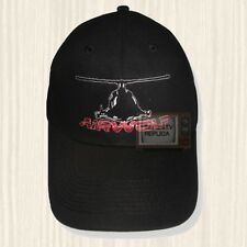 Airwolf Helicopter Black Hat Santini Air String Hawke Logo Cap Embroidered