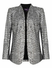 Hip Length Sequin None Coats & Jackets for Women