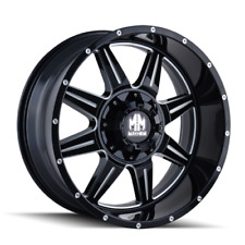 Mayhem Monstir 8100 Black and Machined 20x9 18mm 5x150 5x139.7 Dodge Ram Tundra