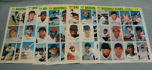 1969, MLB, Photostamps Sheets (7), Different, A.L. & N. L., 12 Players/Sheet