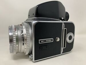 Hasselblad 500C w/ Carl Zeiss Planar 80mm F/2.8 Lens +A12 Back + Viewer - READ