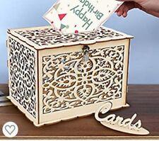 DIY Wedding Card Box Rustic Wood Card Box Gift Card Holder Wedding Banquet Favor