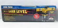 Cen Tech 16 Laser Level With 360 Rotating Head Tripod Amp Case 90980 Nib 821