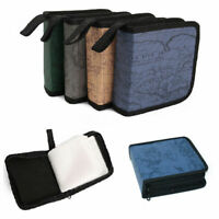 40 Sleeve Disc CD DVD Blu Ray Carry Case Holder Bag Wallet Storage Ring Binder