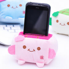 Cute Cartoon Tofu Plush Protect Block Seat Stand Mobile Cell Phone Holder !