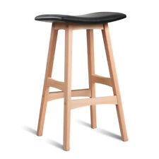 2xtema Bar Stools Beech Wood Wooden Barstool Dining Chairs Kitchen Plywood Black