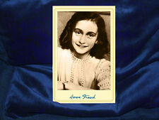 ANNE FRANK Holocaust Diarist Cabinet Card Photograph Vintage Photo Autograph