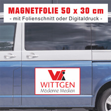 2 Magnetfolien, 50 x 30 cm, mit Folienplott / Digitaldruck für Autotüren etc.