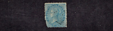 1865  INDIA British (BAS)  Victoria 1/2a Blue Wkm Elephant Sc#20 Used