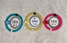 Lokai Bracelet Set Of 3 - Pink, Blue, & Yellow - Size Large