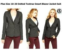76a48d56f08 LADIES PLUS SIZE 18-20 DOTTED BLACK BLAZER TAILORED SUIT JACKET CARDIGAN  TOP VTG
