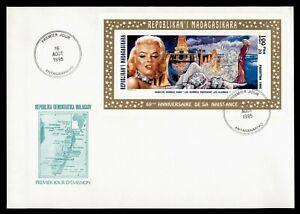 DR WHO 1995 MADAGASCAR FDC HOLLYWOOD MARILYN MANROE FILMS S/S Lf95981