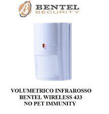 volumetrico infrarosso wireless 433mhz no pet immunity bentel security no inim