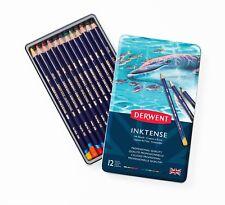 Derwent Inktense, Professional MATITE 12 Tin Set assortiti colori solubile in acqua