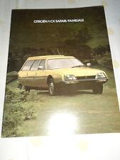 Citroen CX Safari/Familiale brochure Nov 1978