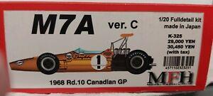 Model Factory Hiro 1:20 McLaren M7a 1968 Canadian GP box shelf worn new in box