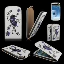 Sac téléphone portable Flip case samsung i9300 Galaxy s3/sac téléphone portable papillon violet