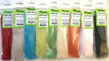 Fly Tying Synthetic Fibre #2 FOXY SILK 4Trouts Set of 9 colors Streamer Hair Fur