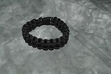 SURVIVAL BRACELET black for wrist 9 inches or less, 3/4'' wide, (storebte#5)