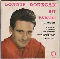 LONNIE DONEGAN - Hit Parade Vol. 6 - 1959 Pye 4-track vinyl EP in picture sleeve
