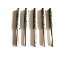 5pc Diamond Chainsaw Sharpening Rotary File Burrs 3/16""