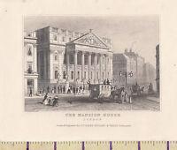 C1840 Viktorianisch Aufdruck ~London~ The Mansion House