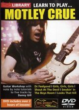 LEARN TO PLAY MOTLEY CRUE GUITAR LICK LIBRARY DVD! NEW!