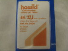 250 (5x50) 44/27.5MM HAWID STAMP MOUNTS CLEAR HIGH VALUE - SUPPLIES