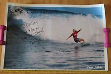 Women's Girls Surfing Roxy Prue Jeffries Autographed Hawaii 24x36in. Poster