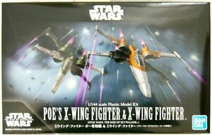 Bandai Star Wars 1/144 X-Wing Fighter & X-Wing Fighter Plastic Model (The Rise o