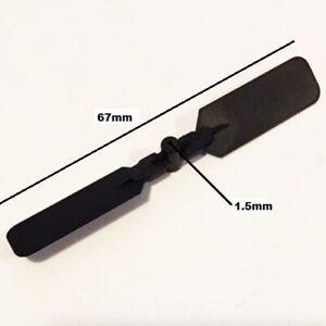 ELICA BIPALA NERA 67mm FORO 1.5mm RICAMBIO PER RC AVIOMODELLI MODELLISMO 1 PEZZO