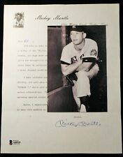 Vintage Mickey Mantle Collectors Club Signed Letter HOF D 1995 Beckett