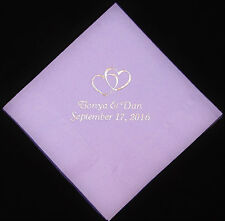 125 Personalized luncheon napkins wedding favors custom printed graduation party