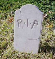 RIP Tombstone Mold Concrete Halloween - Reusable Halloween Prop Cemetery Decor