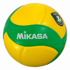 MIKASA V200W-CEV Official CEV Volleyball Champions League Game Ball Green/Yellow