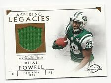 Bilal Powell 2011 Topps Legends Aspiring Legacies Jersey Card, # ALR-BP, Jets