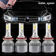 H11 + H11 Combo LED Headlight Kit for Dodge Grand Caravan 2011-17 High Low Beam