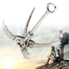 4-Claws Folding Grappling Hook Outdoor Stainless Steel Climbing Claw Hook US