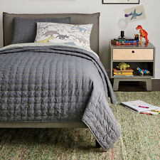 NIP Dwell Studio Dwellstudio Twin Theo Quilt Sham Set Gray Bedding $199