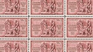 1953 - LOUISIANA PURCHASE - #1020 Full Mint -MNH- Sheet of 50 Postage Stamps