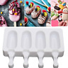 Silicone Frozen Ice Cream Mold Juice Maker Ice Lolly Pop Mould - 4 Cell
