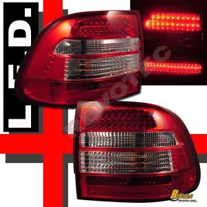 03 04 05 06 Porsche Cayenne S/Turbo Red LED Tail Lights Lamps 1 Pair