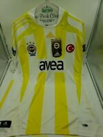 ADIDAS ISTANBUL TURKEY FENERBAHCE FC SOCCER JERSEY-EMBROIDERED SEWN PATCHES-NWT