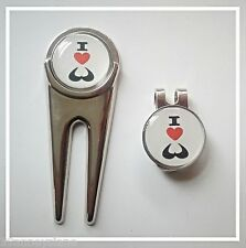 anneys - 2- I luv boobs golf ball markers + divot tool + hat clip.