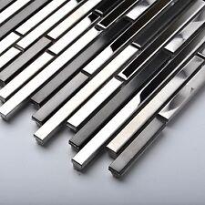 Silver Black Stainless Steel Tile Backsplash Interlace Wall Decor Art CD Marks