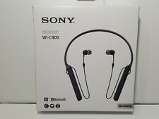 Sony WI-C400 Wireless Stereo Bluetooth Headset. Black **Open Box**