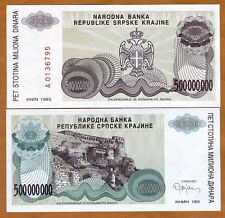 Croatia, 500,000,0000 (500 million) Dinara 1993 R26 UNC