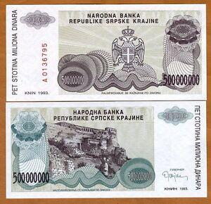 Croatia, 500,000,000 (500 million) Dinara 1993 R26 UNC